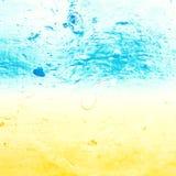 Abstrakcjonistyczna woda morska textured tło w starym grunge Obrazy Royalty Free