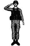 Abstrakcjonistyczna wycinanka żołnierz Obrazy Stock