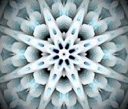 Abstrakcjonistyczna wyrzucona mandala 3D ilustracja Obrazy Stock