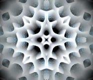 Abstrakcjonistyczna wyrzucona mandala 3D ilustracja Obraz Royalty Free