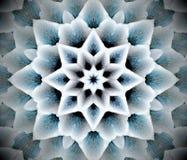 Abstrakcjonistyczna wyrzucona mandala 3D ilustracja Zdjęcia Stock