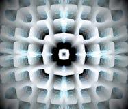 Abstrakcjonistyczna wyrzucona mandala 3D ilustracja Zdjęcie Stock