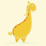 Abstrakcjonistyczna żyrafa wektoru ilustracja Fotografia Stock