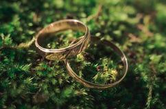 abstrakcjonistyczna złocista miłość dzwoni ślub Zdjęcie Stock