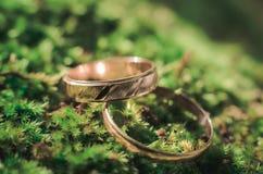 abstrakcjonistyczna złocista miłość dzwoni ślub Fotografia Royalty Free