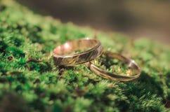 abstrakcjonistyczna złocista miłość dzwoni ślub Obraz Royalty Free