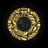 Abstrakcjonistyczna złota boże narodzenie girlanda Zdjęcia Stock