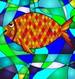 Abstrakcjonistyczna złota ryba royalty ilustracja
