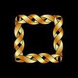 Abstrakcjonistyczna złoto rama royalty ilustracja