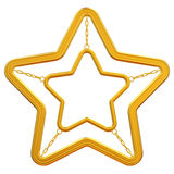Abstrakcjonistyczna złota gwiazda Obrazy Royalty Free