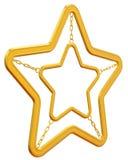 Abstrakcjonistyczna złota gwiazda Zdjęcia Royalty Free