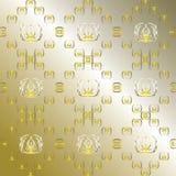 Abstrakcjonistyczna złota tapeta royalty ilustracja
