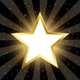 Abstrakcjonistyczna złoto gwiazda Na Ciemnym tle Zdjęcia Royalty Free