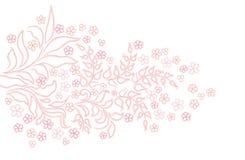 Abstrakcjonistyczna zawijasa kwiatu chamomile tekstura Zdjęcie Stock