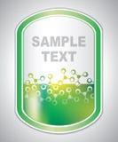 Abstrakcjonistyczna zielonawa laborancka etykietka Zdjęcia Stock