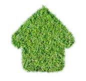 Abstrakcjonistyczna zielonej trawy domu ikona obraz stock