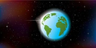 abstrakcjonistyczna ziemska planeta Fotografia Royalty Free