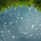 Abstrakcjonistyczna zima i Xmas tła Zdjęcia Stock