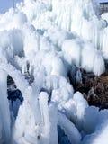 Abstrakcjonistyczna zima marznąć postacie lód i śnieg Zdjęcia Royalty Free