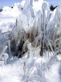 Abstrakcjonistyczna zima marznąć postacie lód i śnieg Obrazy Royalty Free