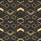 Abstrakcjonistyczne art deco płytki pattern01 ilustracja wektor