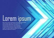 Abstrakcjonistyczne błękitne strzała z światłem Ilustracja Wektor