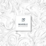 Abstrakcjonistyczne białe i szare akwareli plamy Marmurowy tła tex ilustracji