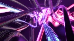Abstrakcjonistyczne bieżące kolorowe linie świadczenia 3 d Zdjęcia Stock