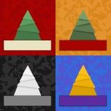 Abstrakcjonistyczne choinki Zdjęcia Royalty Free