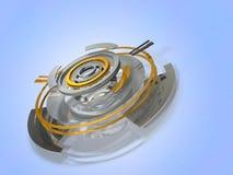 Abstrakcjonistyczne 3DCG ilustracje reprezentuje dane centrum Obrazy Royalty Free