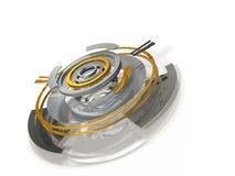 Abstrakcjonistyczne 3DCG ilustracje reprezentuje dane centrum Obraz Royalty Free