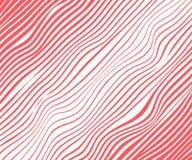 Abstrakcjonistyczne diagonalne czerwone linie, fale, meandruje Wektorowy ilustracyjny szablon z zdolnością narzuta odizolowywał b ilustracja wektor
