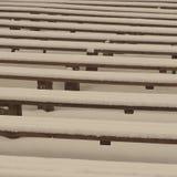 Abstrakcjonistyczne drewniane linie i tekstury w zimie - starzejąca się fotografia Zdjęcia Royalty Free