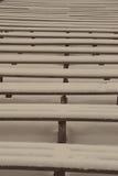 Abstrakcjonistyczne drewniane linie i tekstury w zimie - starzejąca się fotografia Obrazy Royalty Free
