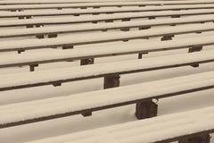 Abstrakcjonistyczne drewniane linie i tekstury w zimie - starzejąca się fotografia Fotografia Royalty Free