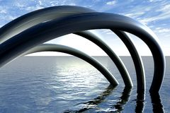 abstrakcjonistyczne drymby Zdjęcie Royalty Free