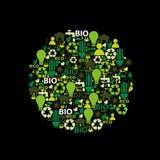 Abstrakcjonistyczne eco ikony Zdjęcia Royalty Free