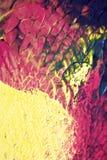 Abstrakcjonistyczne farb smugi, oceny na Czarnym tle i Zdjęcia Stock