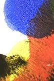 Abstrakcjonistyczne farb smugi, oceny na Czarnym tle i Zdjęcie Royalty Free
