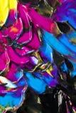 Abstrakcjonistyczne farb smugi, oceny na Czarnym tle i Obraz Royalty Free