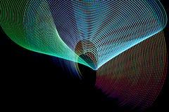 Abstrakcjonistyczne freezelight krzywy Fotografia Stock