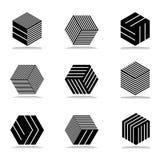 Abstrakcjonistyczne geometryczne ikony ustawiać Obrazy Stock