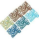 abstrakcjonistyczne geometryczne linie Fotografia Royalty Free