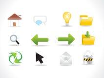 abstrakcjonistyczne glansowane ikony ustawiają sieć Obrazy Stock