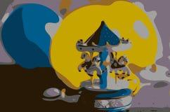 Abstrakcjonistyczne gry dzieci ilustracji