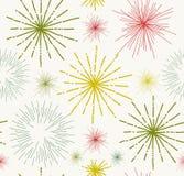 Abstrakcjonistyczne gwiazdy doodle bezszwowego wzór Zdjęcie Royalty Free