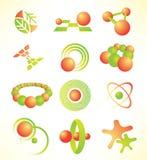 abstrakcjonistyczne ikony Zdjęcie Royalty Free