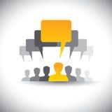 Abstrakcjonistyczne ikony firma personel lub pracownika spotkanie - wektor ilustracji