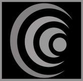 Abstrakcjonistyczne ikony i okręgu symbol obrazy stock