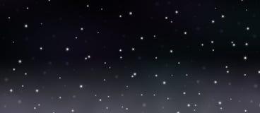 Abstrakcjonistyczne Jarzy się gwiazdy w Ciemnym nocnego nieba tle royalty ilustracja